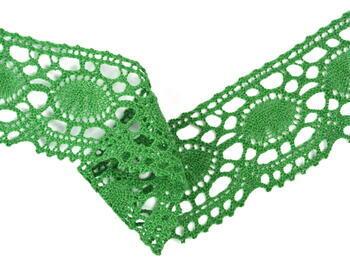 Paličkovaná krajka 75032 bavlněná, šířka45mm, trávová zelená - 3