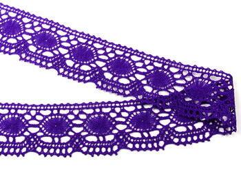 Paličkovaná krajka vzor 75032 purpurová | 30 m - 3