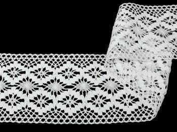 Paličkovaná vsadka vzor 75036 bílá | 30m - 3