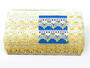 Bobbin lace No. 75041 white/yellow/light yellow | 30 m - 3/4