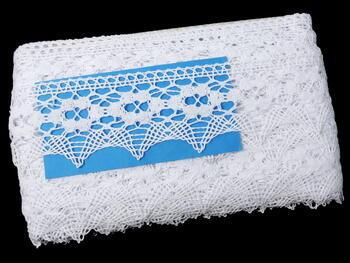 Paličkovaná krajka 75050 bavlněná, šířka60mm, bílá - 3