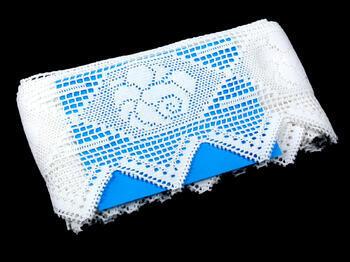 Cotton bobbin lace 75058, width 120 mm, white - 3