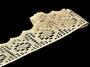 Cotton bobbin lace 75059, width 81 mm, ecru - 3/3
