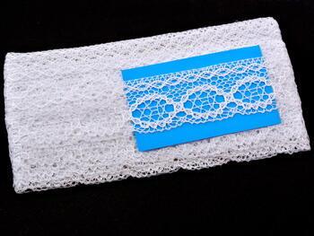 Cotton bobbin lace 75065, width 47 mm, white - 3