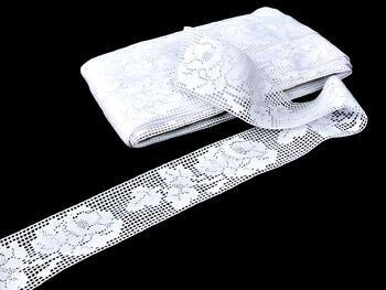 Paličkovaná vsadka 75075 bavlněná, šířka57mm, bílá - 3