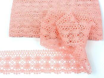 Cotton bobbin lace 75076, width 53 mm, pink - 3