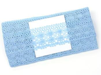 Cotton bobbin lace 75076, width 53 mm, light blue - 3