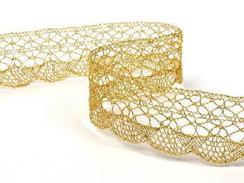 Metalic bobbin lace 75077, width32 mm, Lurex gold - 3