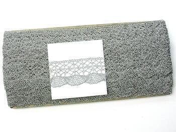 Paličkovaná krajka 75077 metalická, šířka33mm, Lurex stříbrný - 3