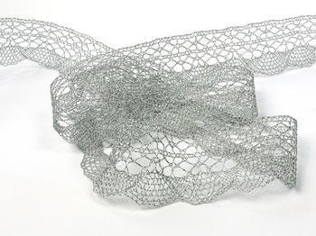 Paličkovaná krajka vzor 75077 stříbrná | 30 m - 3