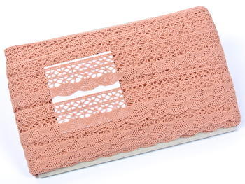 Bobbin lace No. 75077 salmon pink | 30 m - 3