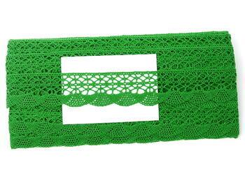 Paličkovaná krajka 75077 bavlněná, šířka32mm, trávová zelená - 3