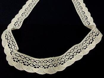 Bobbin lace No.75077 ecru | 30 m - 3