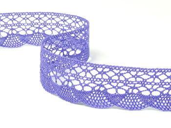 Paličkovaná krajka 75077 bavlněná, šířka32mm, purpurová II/fialová - 3