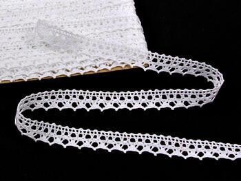 Paličkovaná krajka 75087 bavlněná, šířka19mm, bílá - 3