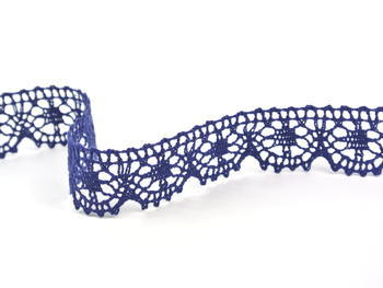 Paličkovaná krajka vzor 75088 tmavě modrá | 30 m - 3