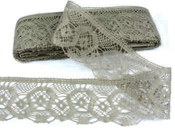 Bobbin lace No. 75096 natural linen | 30 m - 3