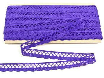 Cotton bobbin lace 75099, width 18 mm, purple/violet - 3
