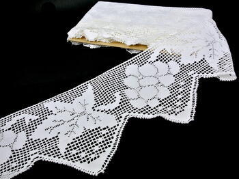 Paličkovaná krajka 75102 bavlněná, šířka210 mm, bílá - 3