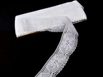 Paličkovaná krajka 75105 bavlněná, šířka46 mm, bílá - 3