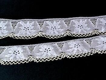 Bobbin lace No. 75115 white/ecru | 30 m - 3
