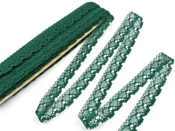 Paličkovaná krajka vzor 75133 tmavě zelená | 30 m - 3