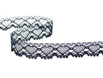 Cotton bobbin lace 75133, width 19 mm, black - 3