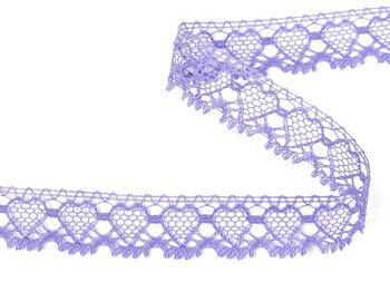 Cotton bobbin lace 75133, width 19 mm, purple/lavender - 3