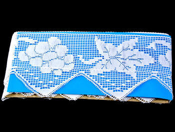 Paličkovaná krajka vzor 75136 bílá | 30 m - 3