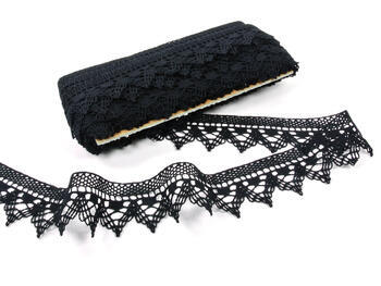 Bobbin lace No. 75145 black | 30 m - 3