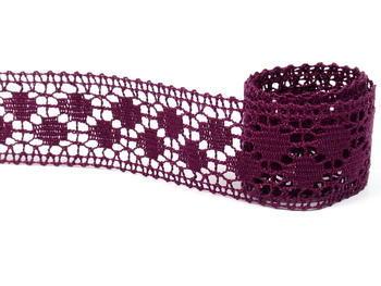 Paličkovaná vsadka vzor 75160 fialová | 30 m - 3