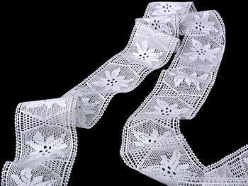 Cotton bobbin lace insert 75168, width80mm, white - 3