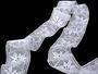 Cotton bobbin lace insert 75168, width80mm, white - 3/4
