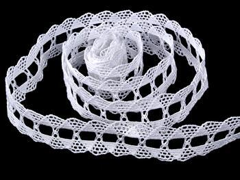 Cotton bobbin lace 75170, width 30 mm, white - 3
