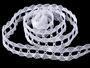 Cotton bobbin lace 75170, width 30 mm, white - 3/4