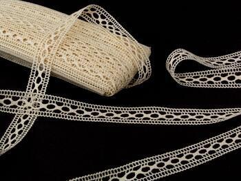 Cotton bobbin lace insert 75181, width25mm, ecru - 3