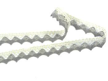 Bobbin lace No. 75191 ecru/dark linen | 30 m - 3