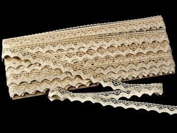 Cotton bobbin lace 75191, width 15 mm, ecru - 3