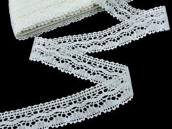 Linen bobbin lace 75202, width 30 mm, cream - 3