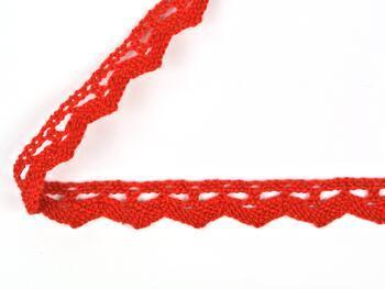 Paličkovaná krajka 75207 bavlněná, šířka 14 mm, červená - 3