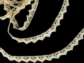 Cotton bobbin lace 75207, width 14 mm, ecru - 3
