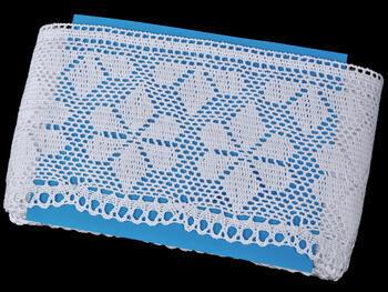 Paličkovaná krajka vzor 75208 bílá | 30 m - 3