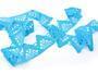 Cotton bobbin lace 75221, width 65 mm, turquoise - 3/4