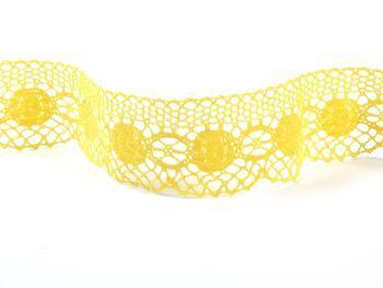 Paličkovaná krajka 75223 bavlněná, šířka 50 mm, žlutá - 3