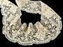 Cotton bobbin lace 75224, width 100 mm, ecru - 3/4