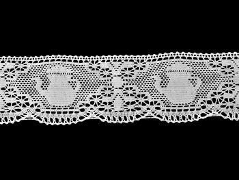Paličkovaná krajka vzor 75226 bílá | 30 m - 3