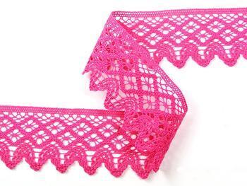 Cotton bobbin lace 75234, width 54 mm, fuchsia - 3