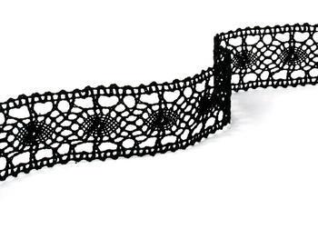 Paličkovaná vsadka vzor 75235 černá | 30 m - 3