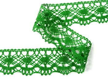Paličkovaná krajka vzor 75238 trávová zelená | 30 m - 3