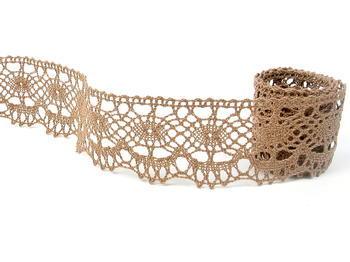 Bobbin lace No. 75238 dark beige | 30 m - 3